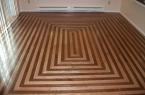 Picture frame hardwood flooring